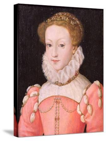 Mary Stuart (1542-87)-Francois Clouet-Stretched Canvas Print