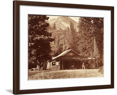 Kessler Peak and Meeks Camp, Big Cottonwood Canyon, Utah, Usa, 1861-75-Carleton Emmons Watkins-Framed Photographic Print