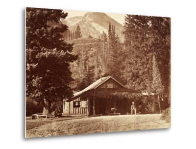 Kessler Peak and Meeks Camp, Big Cottonwood Canyon, Utah, Usa, 1861-75-Carleton Emmons Watkins-Metal Print
