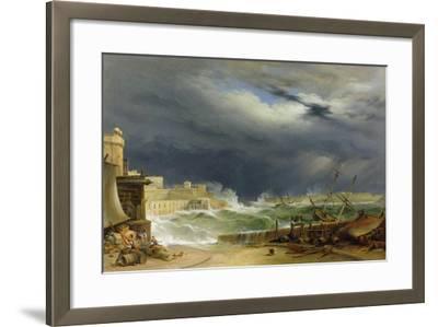Storm, Malta, 1850-John or Giovanni Schranz-Framed Giclee Print