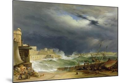 Storm, Malta, 1850-John or Giovanni Schranz-Mounted Giclee Print