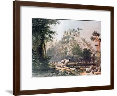 View of El Castillo, 1844-Frederick Catherwood-Framed Giclee Print
