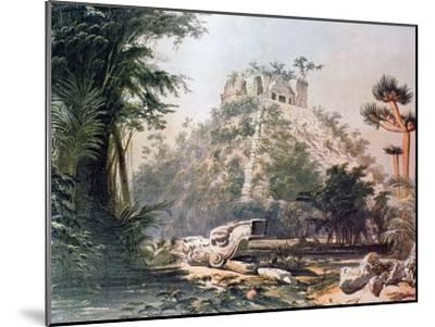 View of El Castillo, 1844-Frederick Catherwood-Mounted Giclee Print