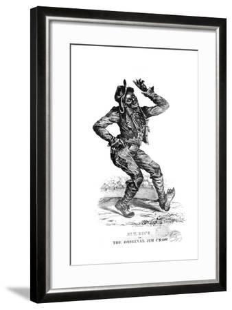 Sheet Music Cover for 'The Original Jim Crow', Written by Thomas Dartmouth 'Daddy' Rice--Framed Giclee Print