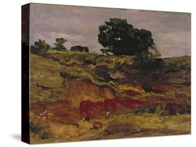 Sketch for a Landscape, 'View in Bedfordshire', C.1890-Frederick Leighton-Stretched Canvas Print