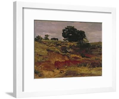 Sketch for a Landscape, 'View in Bedfordshire', C.1890-Frederick Leighton-Framed Giclee Print