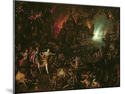 Aeneas in the Underworld-Jan Brueghel the Elder-Mounted Giclee Print