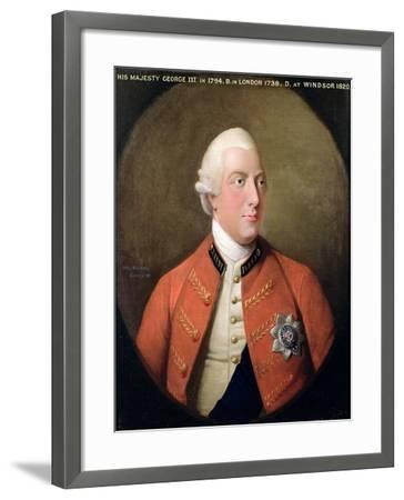 Portrait of George III (1738-1820) 1794-David Dodd-Framed Giclee Print