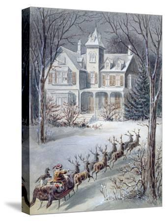Illustration from 'twas the Night before Christmas' Written by Professor Clement Clarke Moore…--Stretched Canvas Print