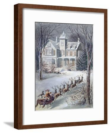 Illustration from 'twas the Night before Christmas' Written by Professor Clement Clarke Moore…--Framed Giclee Print