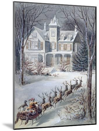 Illustration from 'twas the Night before Christmas' Written by Professor Clement Clarke Moore…--Mounted Giclee Print