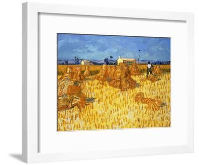 Harvest in Provence, June 1888-Vincent van Gogh-Framed Giclee Print