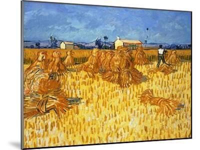 Harvest in Provence, June 1888-Vincent van Gogh-Mounted Giclee Print