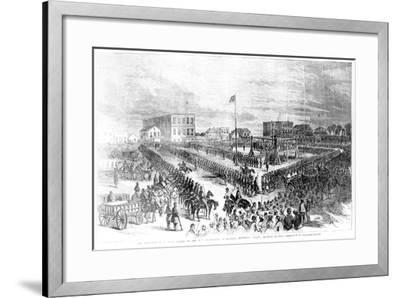 The Execution of Sioux Indians by the Us Authorities at Mankato, Minnesota on Friday 26th…-American School-Framed Giclee Print