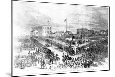 The Execution of Sioux Indians by the Us Authorities at Mankato, Minnesota on Friday 26th…-American School-Mounted Giclee Print