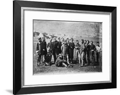 Survivors of the 13th Regiment of Light Dragoons after the Battle of Balaklava, 1854, 1855-Roger Fenton-Framed Photographic Print