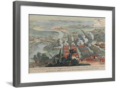 A View of the Glorious Action of Dettingen, 16th-27th June 1743, Engraved by I. Pano, Published…-F. Daremberg-Framed Giclee Print