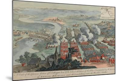 A View of the Glorious Action of Dettingen, 16th-27th June 1743, Engraved by I. Pano, Published…-F. Daremberg-Mounted Giclee Print