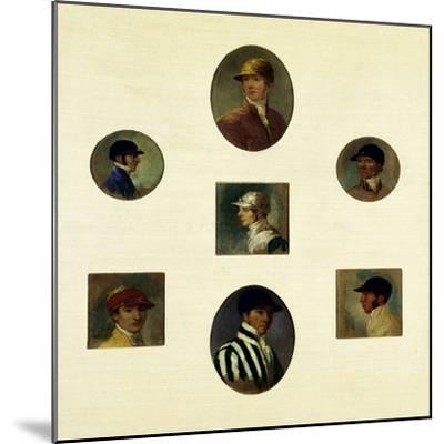 Studies of Jockeys, C.1830-Abraham Cooper-Mounted Giclee Print