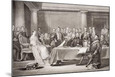 Queen Victoria's First Council, Kensington Palace, 21 June 1837, from 'Illustrations of English…-Sir David Wilkie-Mounted Giclee Print