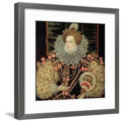 Portrait of Queen Elizabeth I - the Armada Portrait-George Gower-Framed Giclee Print