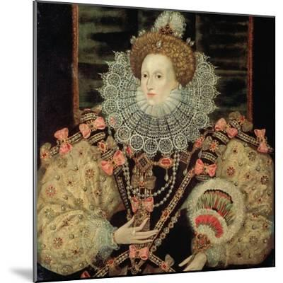 Portrait of Queen Elizabeth I - the Armada Portrait-George Gower-Mounted Giclee Print