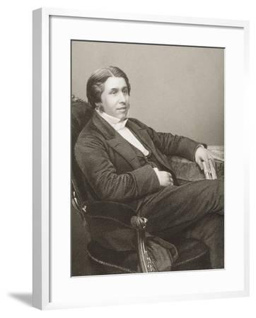 Charles Haddon Spurgeon (1834-92) Engraved by D.J. Pound from a Photograph, from 'The…-John Jabez Edwin Paisley Mayall-Framed Giclee Print