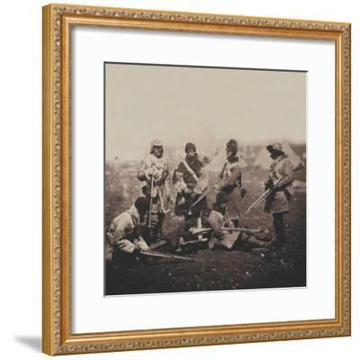 Men of the 68th (Durham) Regiment of Foot (Light Infantry) in Winter Dress, from an Album of 52…-Roger Fenton-Framed Photographic Print