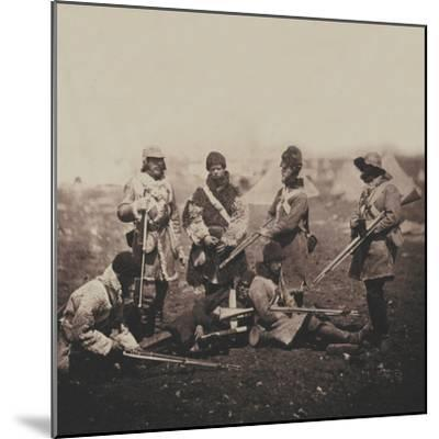 Men of the 68th (Durham) Regiment of Foot (Light Infantry) in Winter Dress, from an Album of 52…-Roger Fenton-Mounted Photographic Print