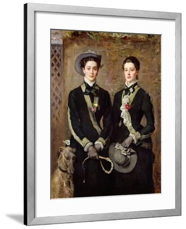 The Twins, Portrait of Kate Edith and Grace Maud Hoare, 1876-John Everett Millais-Framed Giclee Print