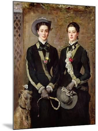 The Twins, Portrait of Kate Edith and Grace Maud Hoare, 1876-John Everett Millais-Mounted Giclee Print