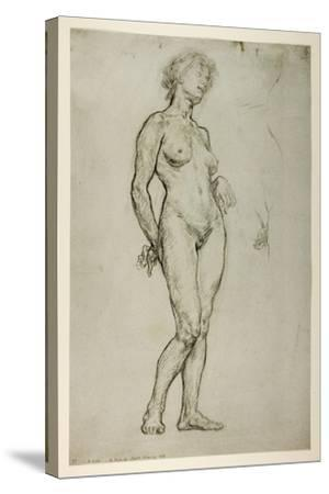 Study of a Female Figure, 1898-Sir William Orpen-Stretched Canvas Print