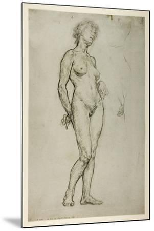 Study of a Female Figure, 1898-Sir William Orpen-Mounted Giclee Print