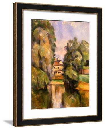 Country House by the Water, C.1888-Paul C?zanne-Framed Giclee Print
