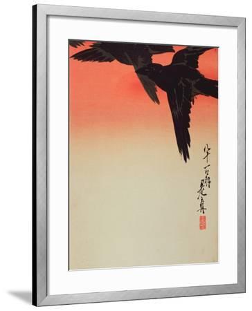 Crows in Flight at Sunrise, 1888-Shibata Zeshin-Framed Giclee Print
