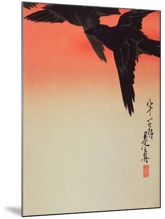 Crows in Flight at Sunrise, 1888-Shibata Zeshin-Mounted Giclee Print