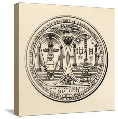 Masonic Seal, 1802, from 'The History of Freemasonry, Volume III', Published by Thomas C. Jack,…--Stretched Canvas Print