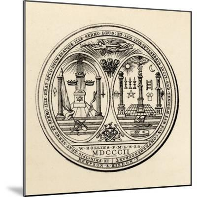 Masonic Seal, 1802, from 'The History of Freemasonry, Volume III', Published by Thomas C. Jack,…--Mounted Giclee Print