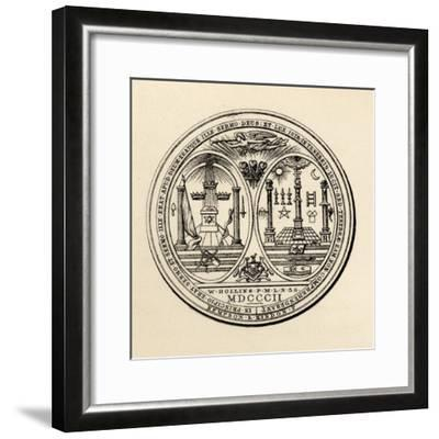 Masonic Seal, 1802, from 'The History of Freemasonry, Volume III', Published by Thomas C. Jack,…--Framed Giclee Print