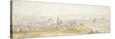 Distant View of a Town with a Chateau on the Right-Adam Frans van der Meulen-Stretched Canvas Print