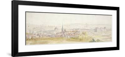 Distant View of a Town with a Chateau on the Right-Adam Frans van der Meulen-Framed Giclee Print