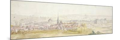 Distant View of a Town with a Chateau on the Right-Adam Frans van der Meulen-Mounted Giclee Print