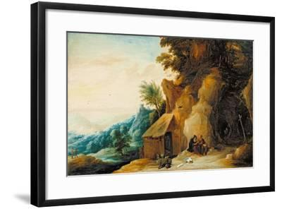 Saints Anthony and Paul in a Landscape, C.1636-38-David Teniers the Younger-Framed Giclee Print