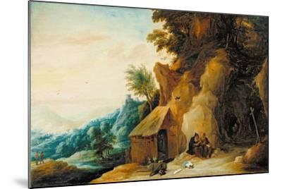 Saints Anthony and Paul in a Landscape, C.1636-38-David Teniers the Younger-Mounted Giclee Print