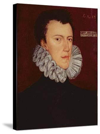 Saint Philip Howard, 13th Earl of Arundel-George Gower-Stretched Canvas Print