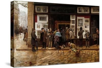 The Public Exhibition of Painting, 1888-Juan Ferrer y Miro-Stretched Canvas Print