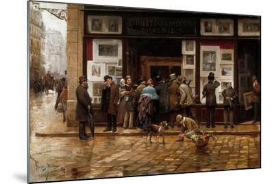 The Public Exhibition of Painting, 1888-Juan Ferrer y Miro-Mounted Giclee Print