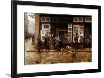 The Public Exhibition of Painting, 1888-Juan Ferrer y Miro-Framed Giclee Print