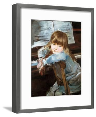 Girl before the Piano, Late C19th-Francisco Torrescassana-Framed Giclee Print