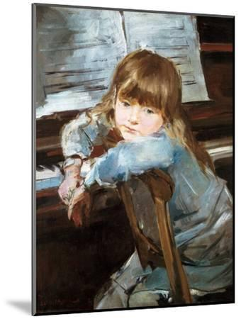 Girl before the Piano, Late C19th-Francisco Torrescassana-Mounted Giclee Print